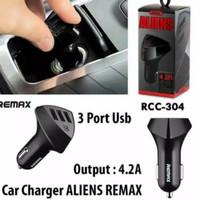 Remax RC-C304 Aliens - 3 USB 4.2A Car Charger