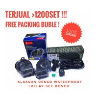 Klakson Keong Denso Waterproof + Relay Set Bosch