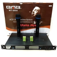 Microphone Wireless BMB WT-6600 Baterai Charge Mic Asli Original