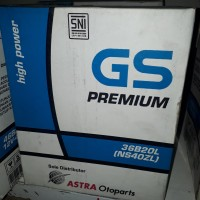 Aki mobil GS ASTRA premium ns40ZL Honda Brio Mobilio Bogor