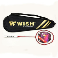 Raket Badminton Wish Fusiontec 995 Force + Senar - ORIGINAL