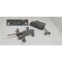 1/72 German artillery 17 cm Kanone 18 plus infantry and Sdkfz 9