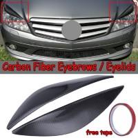 Serat Karbon untuk Headlight Mobil Mercedes Benz W204 c180 C200 c300