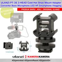 ULANZI PT-3S 3-HEAD Cold Hot Shoe Mount Adapter Converter Base