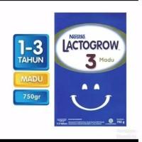 Lactogrow 3 Plain/Vanila/Madu 750gr