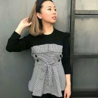 Harga blouse wanita atasan wanita pakaian wanita bahan tebal | antitipu.com