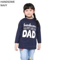 Baju Kaos Anak Cowok Cewek Lengan Panjang Handsome Murah