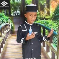 READY Koko anak baju koko anak baru warna hitam seragam hadroh baju