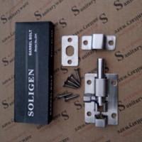 Kunci Gembok engsel pintu slot pintu soligen 2 inch STAINLESS