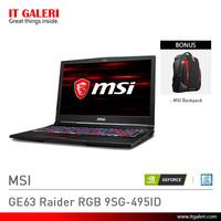 Laptop Gaming MSI GE63 Raider RGB 9SG-495ID Black Murah