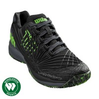 Sepatu Tenis Wilson Kaos 2.0 Black/Green / Sepatu Wilson Kaos 2.0
