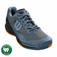 Sepatu Tenis Wilson Rush Pro 3.0 Grey/Orange / Sepatu Wilson Rush Pro