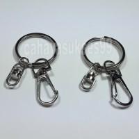 Ring Gantungan Kunci Keychain Ring Bulat 3cm Gepeng Pipih Kunci Motor