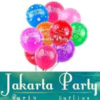 Balon Latex Motif HBD 1 PACK ISI 100 PCS / Balon Happy Birthday