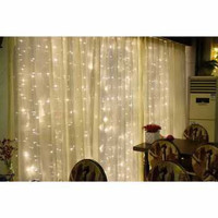 Lampu LED Gorden Dekorasi Wedding Light 3x3M 300 LED Backdrop Curtain