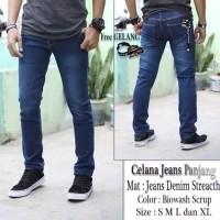 denim celana jeans panjang premium