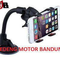 Holder HP Tempel Kaca Mobil Jepit Panjang Fleksibel Lazy Pod Phone Car