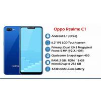 Realme C1 Resmi Snapdragon Real Me Rilmi - Hitam