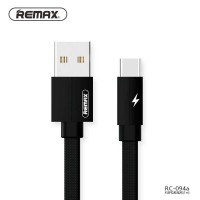 Remax Kerolla Fabric Kabel USB Type C - RC-094a 200 CM Hitam