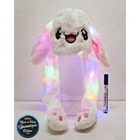 Topi Bunny Hat Kelinci Led Dancing Putih #1