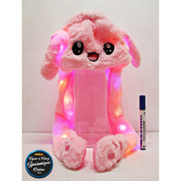 Topi Bunny Hat Kelinci Led Dancing Pink #1