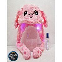 Topi Bunny Hat Kelinci Led Dancing Pink #2