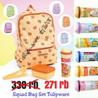 Set Bekal Anak + Ransel Anak / Squad Bag Set Twin Tulipware