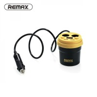 Remax Charger Mobil 2 Port USB & 2 Cigarette Plug - CR-2XP