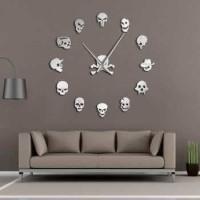 Taffware Jam Dinding Besar DIY Giant WallClock 120 Head Skull DIY-213
