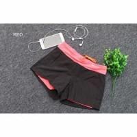 Pro Sport Celana Pendek Gym Fitness Yoga Wanita Double Layer - YG1878