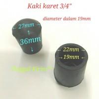 "Kaki karet 3/4"", kaki 3/4 inch, diameter lubang 19mm"