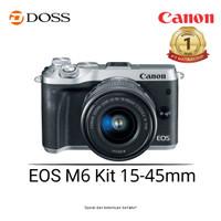 Canon EOS M6 Kit 15-45mm Mirrorless Digital Camera (Silver)