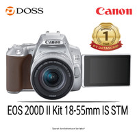 Canon EOS 200D II Kit DSLR Camera with 18-55mm Lens Silver