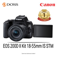 Canon EOS 200D II Kit DSLR Camera with 18-55mm Lens Black