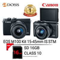 Canon EOS M100 with 15-45mm Lens (Black)
