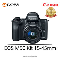 Canon EOS M50 Mirrorless Digital Camera Kit 15-45mm Black