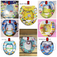Soft Potty Seat/Ring Closet Karakter (With Handle) for Toilet Training