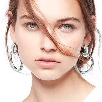 Anting Korea Tide Round Rhinestone Earrings Earrings J4U833