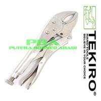 TEKIRO Tang Buaya Bengkok 10 inchi- LOCKING GRIP PLIER CURVED. PL-LG07