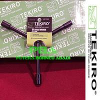 TEKIRO Kunci Sock Y pendek ukuran 08 - 09 - 10 mm Kode WR-YT0265