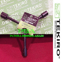 TEKIRO Kunci Sock Y - pendek ukuran 10-12-14 mm Kode WR-YT0268