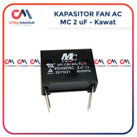 Kapasitor Fan AC 2 uf MC Kawat Solder PCB Kipas Indoor OUtdoor Kotak