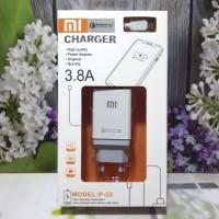 Charger XIAOMI Semua Type 2USB logo VOOC Fast Charging Adaptor +Kabel