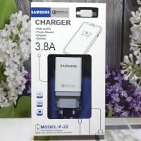 Charger SAMSUNG Semua Type 2USB logo VOOC Fast Charging Adaptor +Kabel