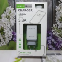 Charger Hp Oppo Semua Type 2USB logo VOOC Fast Charging Adaptor +Kabel