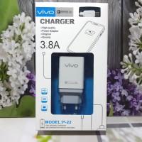 Charger Hp Vivo Semua Type 2USB logo VOOC Fast Charging Adaptor +Kabel