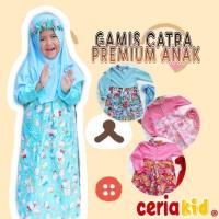 Gamis Anak Karakter + Jilbab Katun Premium