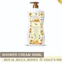 WHITE GARDEN Shower Cream Royal Jelly Honey Goat's Milk 500ml Sabun