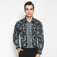 Alisan Kemeja Lengan Panjang Batik Reguler Biru BTKRG10464LS