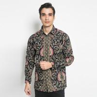 Alisan Kemeja Lengan Panjang Batik Kombinasi Hijau BTKKB10471 Slimfit